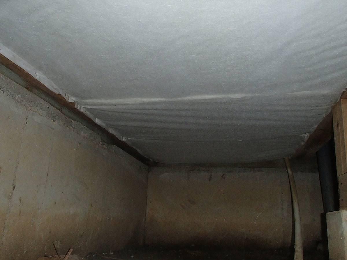 断熱材の施工後