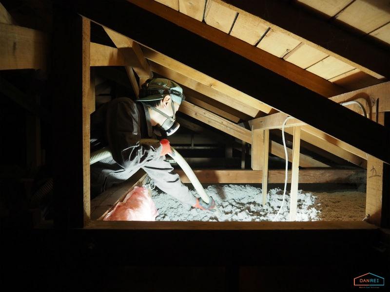 小屋裏断熱のイメージ