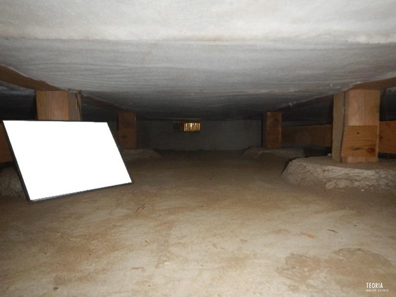 床下グラスウールの施工後