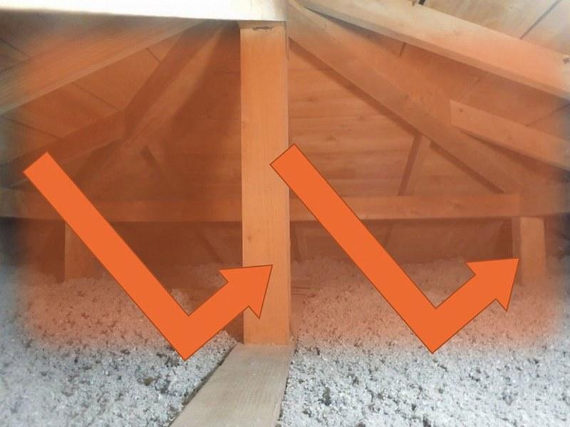 断熱材のある床下